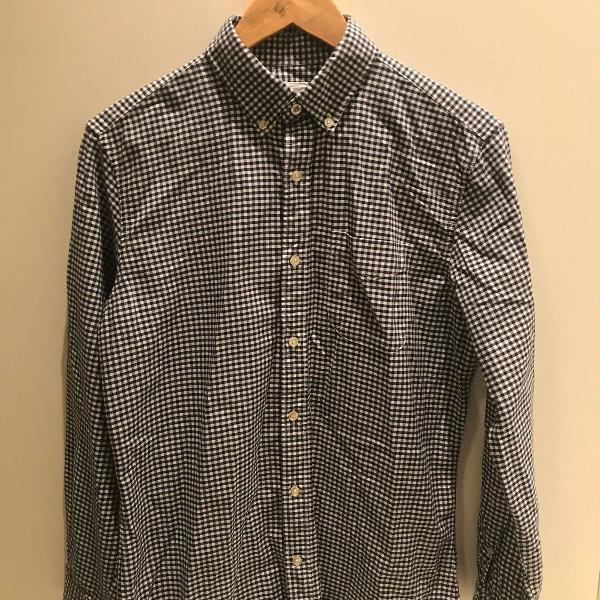 Camisa gap micro check (xadrez) azul marinho
