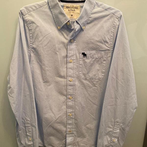 Camisa social abercrombie & fitch