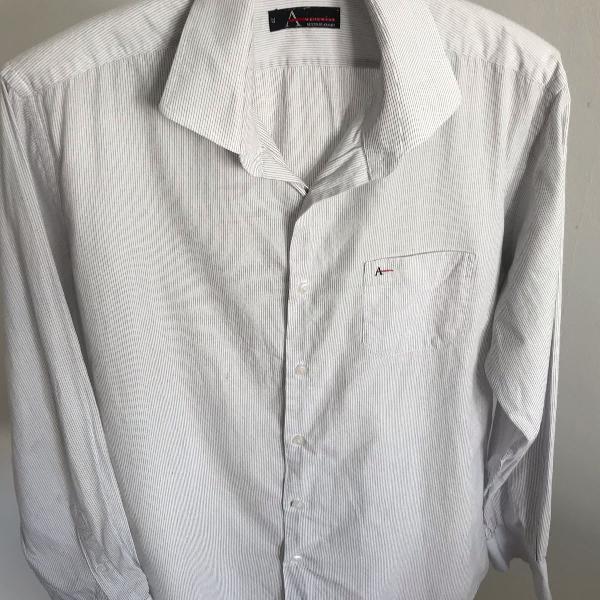 Camisa social aramis listrada tamanho g colarinho italiano