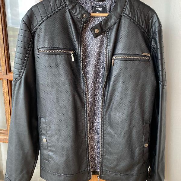 Jaqueta couro sintético tng preta
