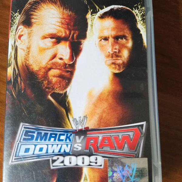 Jogo psp smack down vs raw 2009
