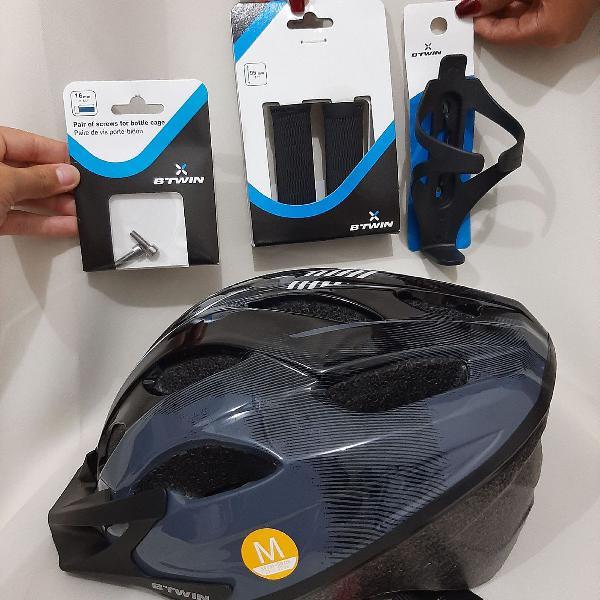 kit ciclismo com capacete