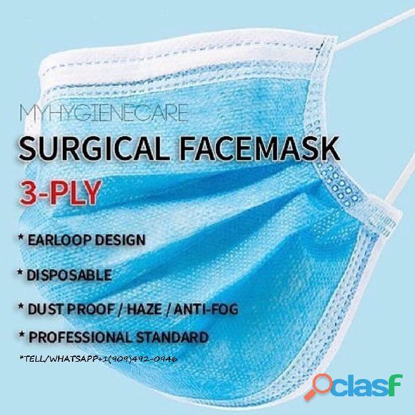 Descartáveis Earloop Boca Máscara Facial Máscaras de 3 camadas 50PCS Safety Mask Poeira (50 peças) 4