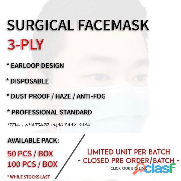 Descartáveis Earloop Boca Máscara Facial Máscaras de 3 camadas 50PCS Safety Mask Poeira (50 peças) 2