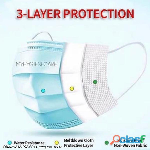 Descartáveis Earloop Boca Máscara Facial Máscaras de 3 camadas 50PCS Safety Mask Poeira (50 peças) 1