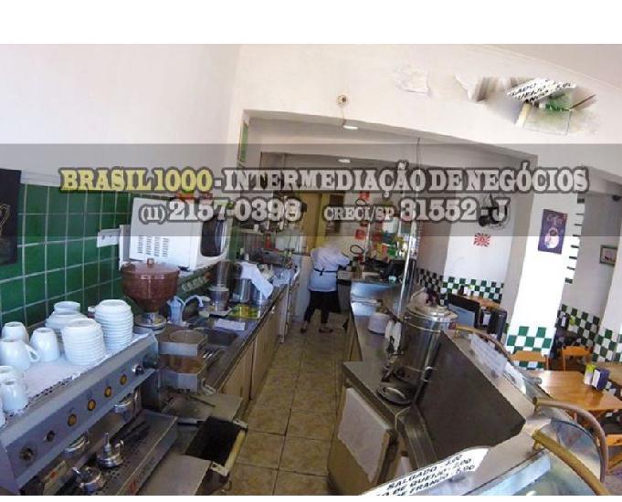 Cafeteria, localizada no bairro Tatuapé, SP. (Cód. 7336)