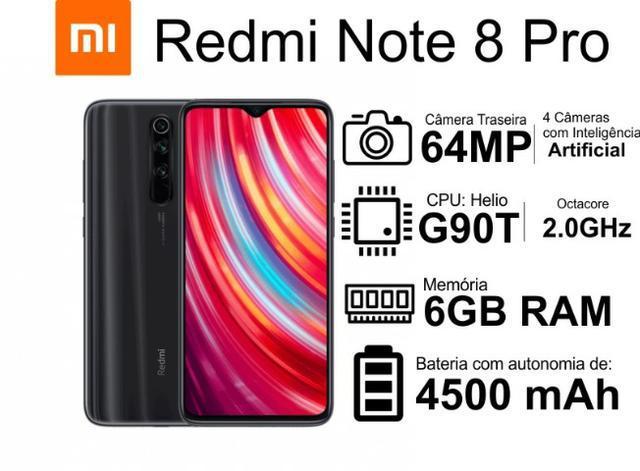 Celular xiaomi redmi note 8 pro global 128gb 6gb ram 4500