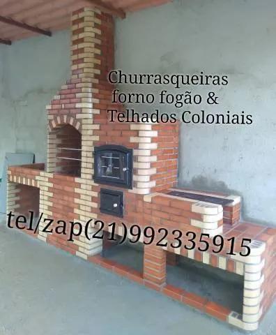 Churrasqueiras forno fogão & telhados coloniais