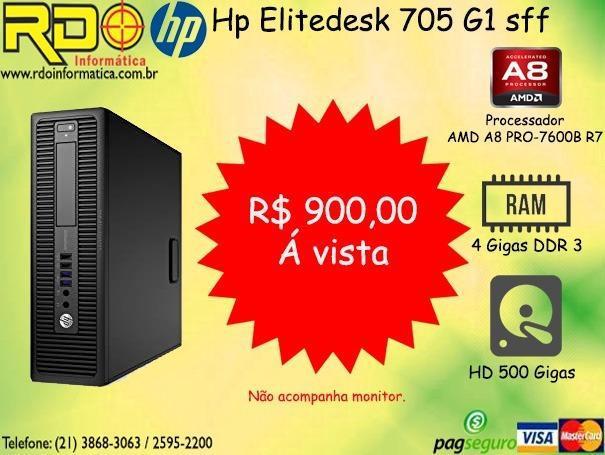 Computador Hp Mini A8 Pro 7600/04Gb/Hd500gb