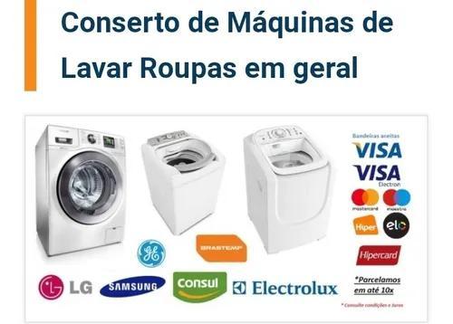 Conserto máquinas de lavar