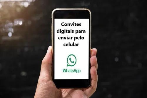 Convite digital para enviar via: whatsapp, facebbok, instag