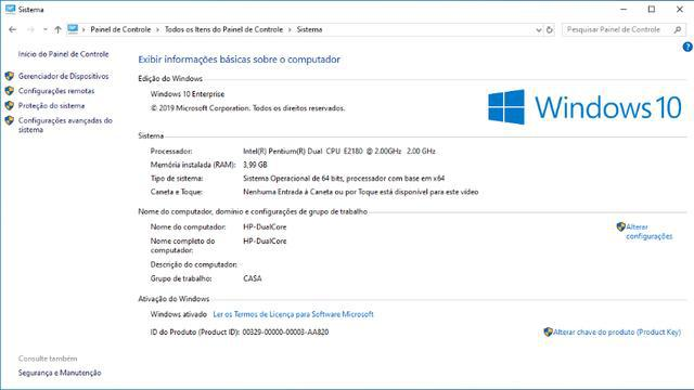Cpu hp intel e2180/4gb/hd500gb -w10/office + impressora