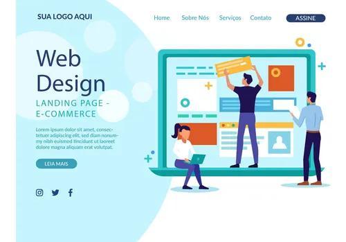 Criação de site completo com domínio e hospedag