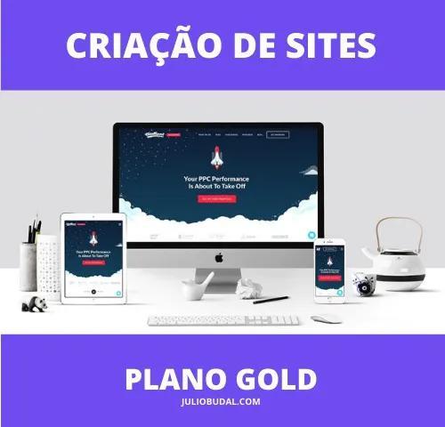 Criação de site profissional - plano gold mensal