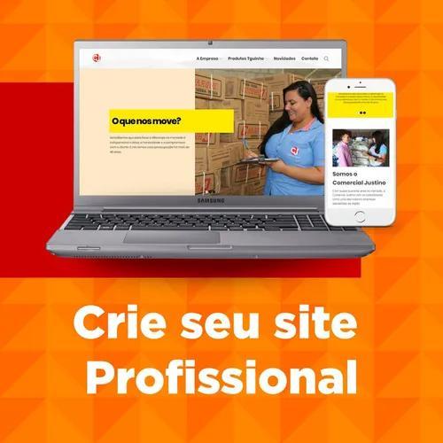 Crie seu site personalizado + domínio + hospedag