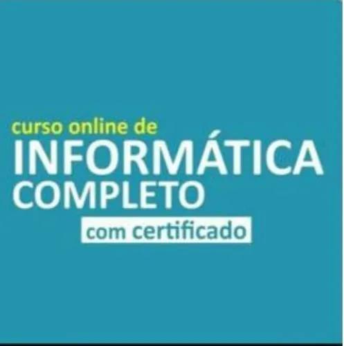 Curso de informática completo com certificado