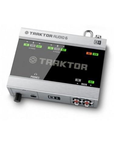 Placa áudio 6 traktor com cabos e time code cd