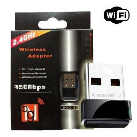 R$ 25 adaptador wireless usb wifi 950mbps 2.4ghz