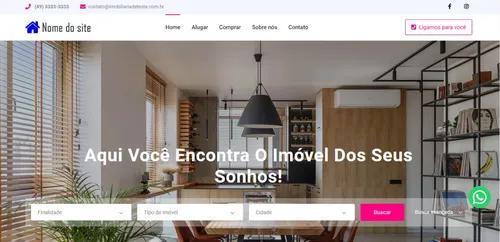 Site para imobiliária e corretores - customizável