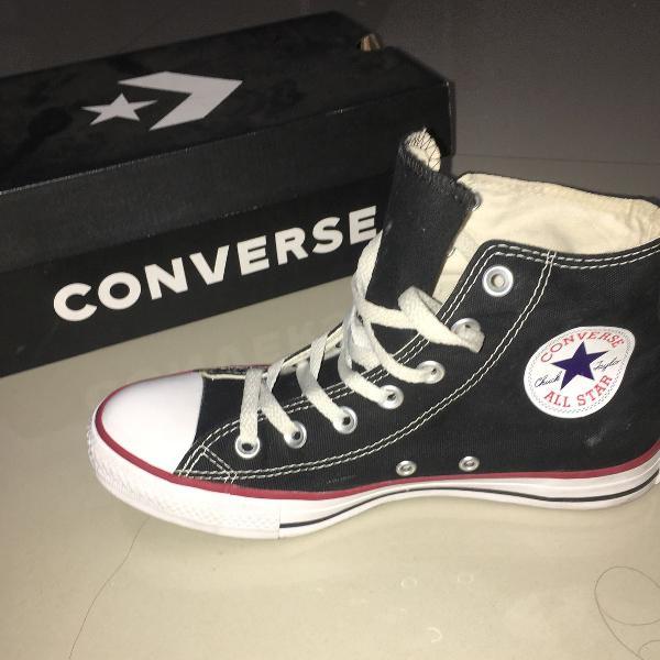 All star converse preto cano alto