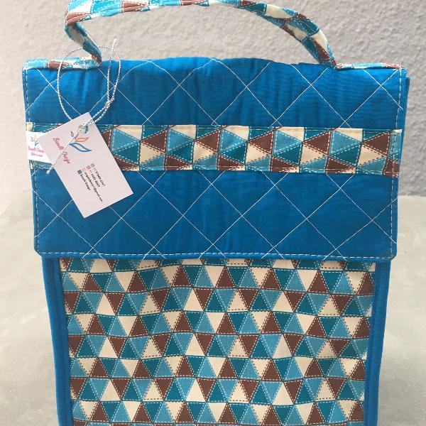 Bolsa térmica geométrica azul