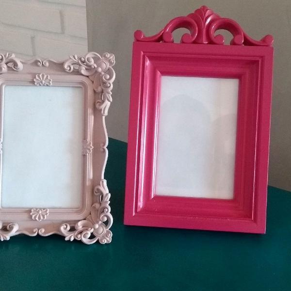 Duplinha de porta retratos rosa