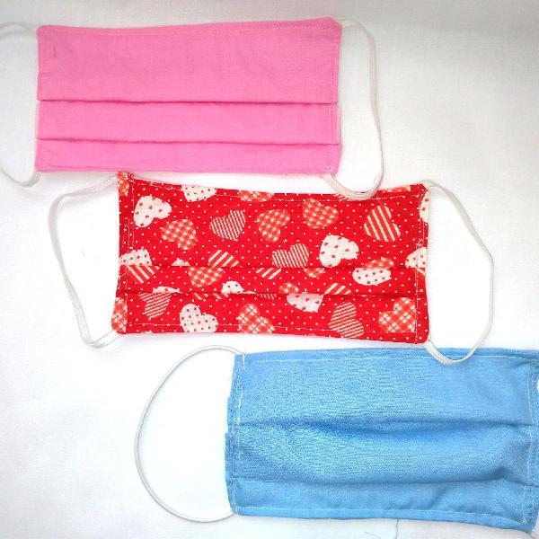 Kit mascara de tecido reutilizável