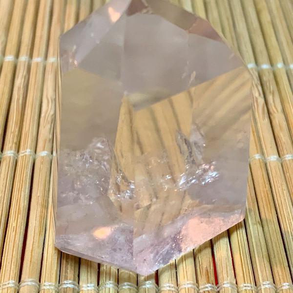 Ponta de cristal de quartzo gerador energia canalização