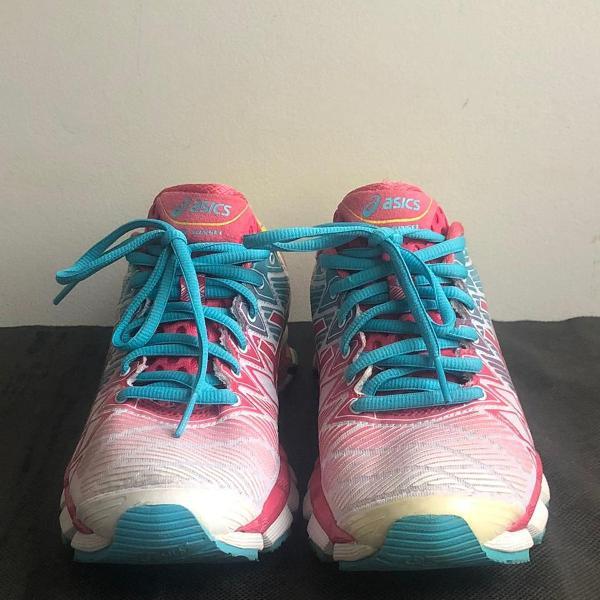 Tênis asics gel kinsei 5 rosa/azul
