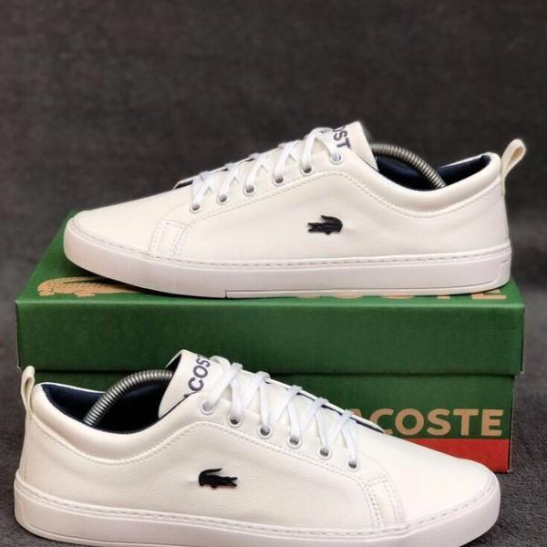 Tênis lacoste branco disponível!!!