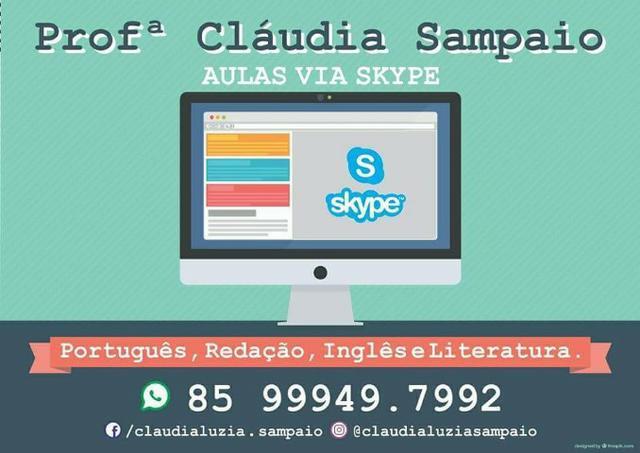 Aulas de português via skype
