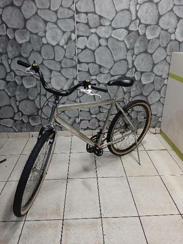 Bicicleta mtb cromada aro 26