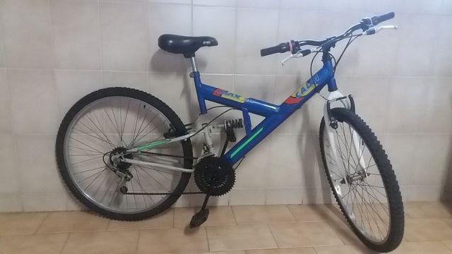 Bicicleta mountain bike caloi max, 18 marchas, amortecedor