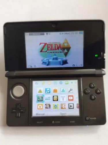 Console nintendo 3ds preto black 8gb com sky3ds e jogos orig