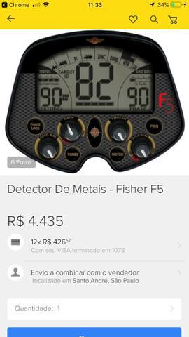 Detector de metal fischer f5