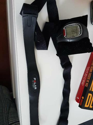 Frequencímetro polar rs100 com fita e elástico