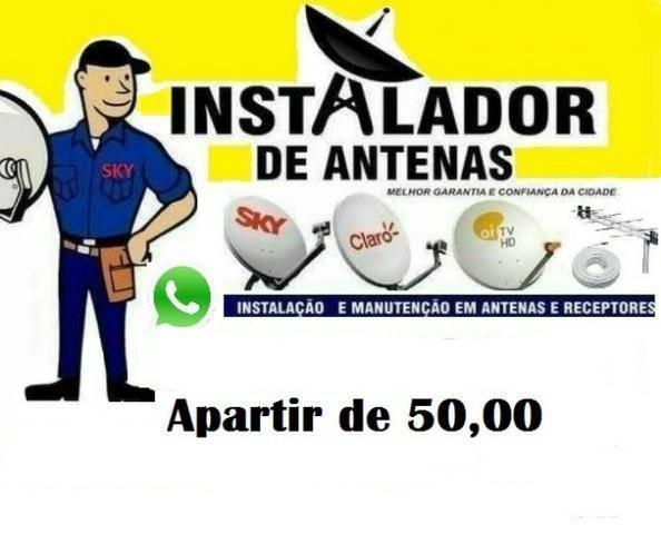 Instalador de antena contagem esmeraldas bh e regiao