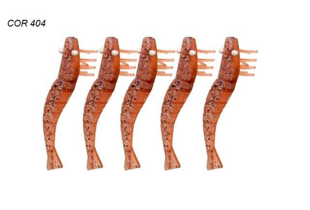 Isca artificial para pesca camarão doa sem anzol/lastro -
