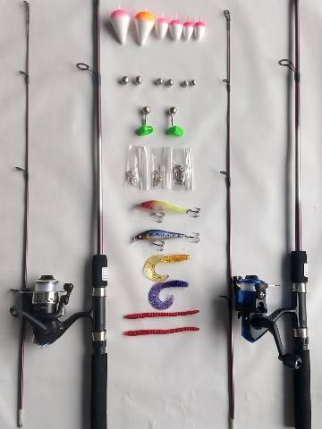 Kit varas de pesca 2 molinetes