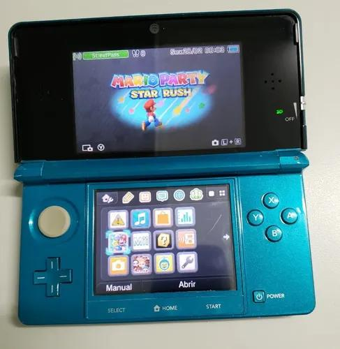 Nintendo 3ds aqua blue europeu + 5 jogos originais