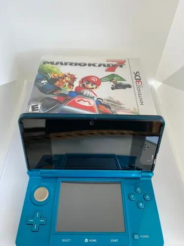 Nintendo 3ds azul com 05 jogos