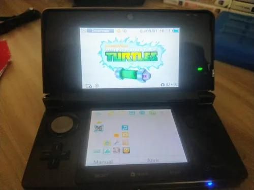 Nintendo 3ds com 40 jogos eu. originais + super kit gadgets.