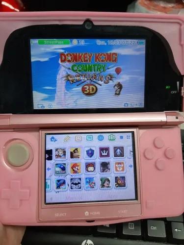 Nintendo 3ds lite rosa desbloqueado + pes 2013 + mario kart