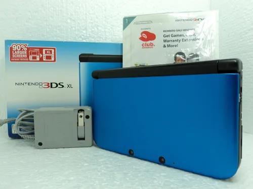 Nintendo 3ds xl - blue/black - pronta entrega - 12x s/ juros