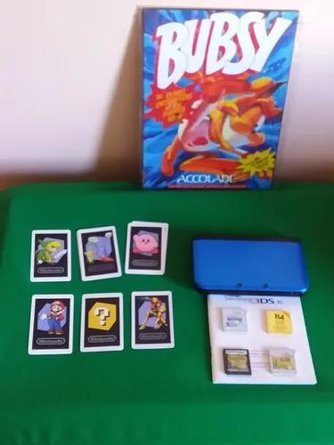Nintendo 3ds xl com manual cartas e jogos leia descrição