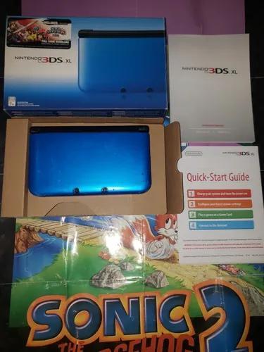 Nintendo 3ds xl na caixa completo com 1 jogo das fotos