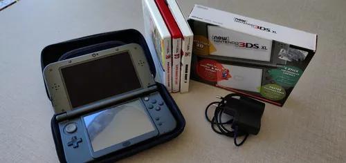 Nintendo New 3ds Xl Completo +3 Jogos