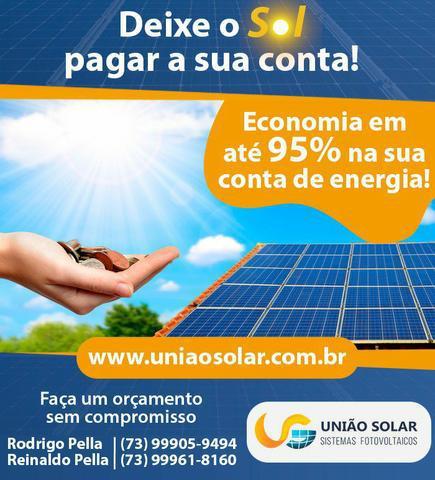 Placa solar - deixe o sol pagar sua conta de energia!