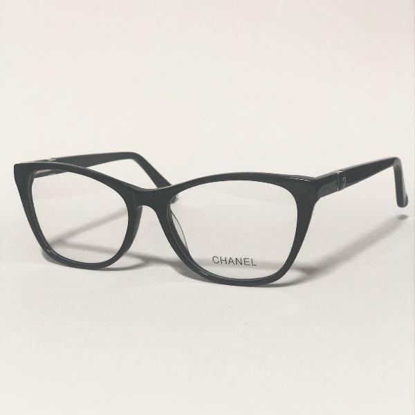 Armação para óculos de grau feminina chanel preto brilho