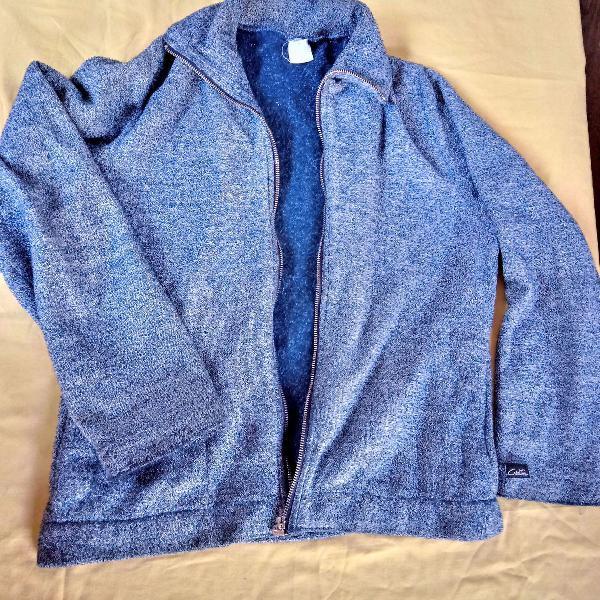 Casaco azul mesclado m